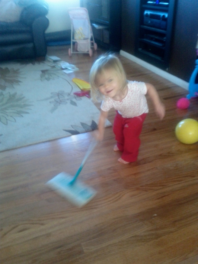 Helping Mommy clean