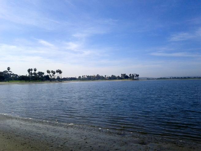 morning walk at the bay