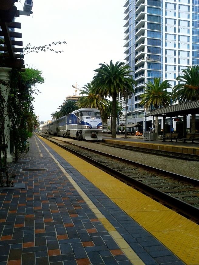 Here comes the train and Kiah