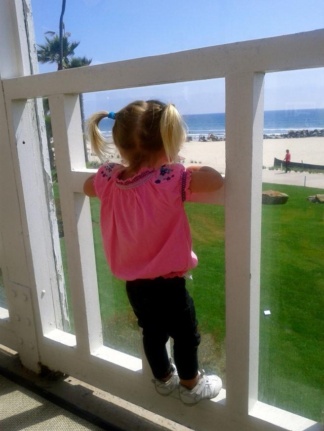 Checking out the Coronado beach view