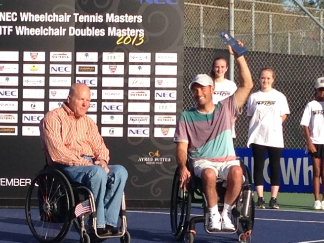 NEC wheelchair Masters champion